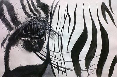 Painting - Windows I Zebra. by Paula Steffensen