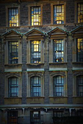 Photograph - Windows In A Vintage Apartment Building by Randall Nyhof