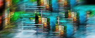 Windows Into The Blue Art Print