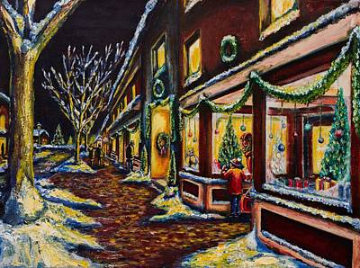 Store Fronts Painting - Windows Into Wonderland by Kevin Richard