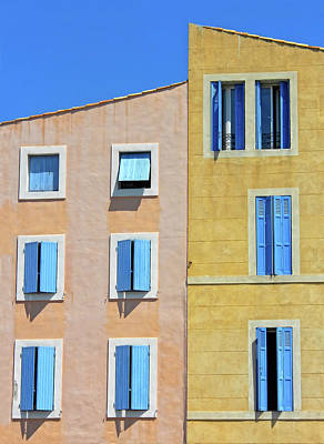Art Print featuring the photograph Windows Martigues Provence France by Dave Mills