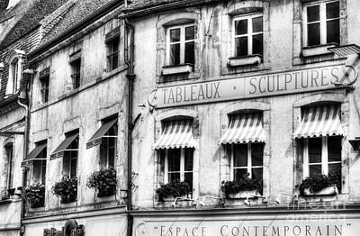Photograph - Windows Of Beaune Bw by Mel Steinhauer