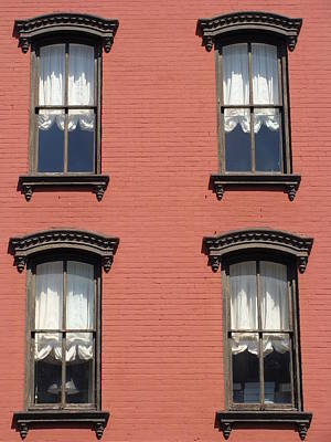 Art Print featuring the photograph Window's Of Hudson Ny by Ira Shander
