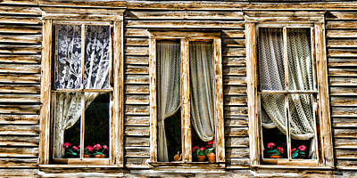 Photograph - Windows Of Lace Of Annabelle's Place by Lana Trussell