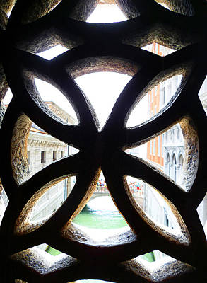 Photograph - Windows Of Venice View From Palazzo Ducale by Irina Sztukowski