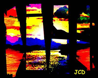 Windows On A Wonderful Scenery Art Print by Jean-Claude Delhaise