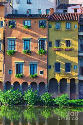 Windows On The River Arno Art Print