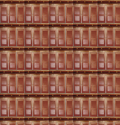 Painting - Windows Pattern Art Architecture Interior Decorations by Navin Joshi