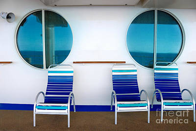 Windows Reflecting The Sea Art Print