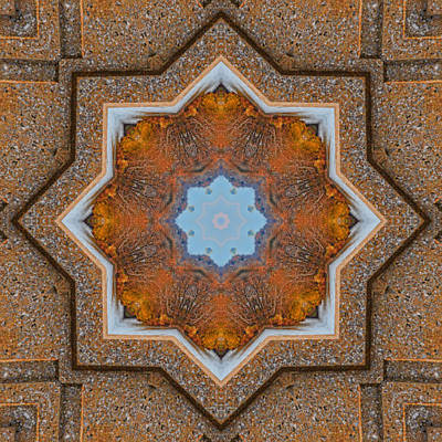 Photograph - Windows To Autumn Mandala 5 by Beth Sawickie