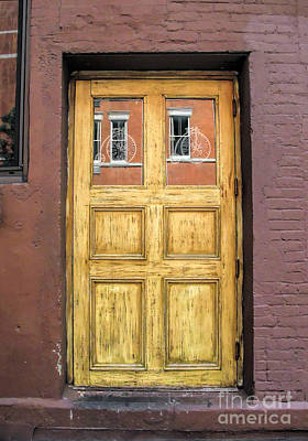 Photograph - Windows Within A Door by Anne Ferguson