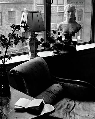 Interior Scene Photograph - Windowsill Decorations At Portraits N.y.c. Inc by Andre Kertesz