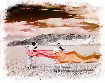 Dry Lake Digital Art - Winds Of Change by Ken Evans