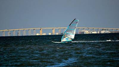 Photograph - Windsailing By Jfk Causeway by Kristina Deane