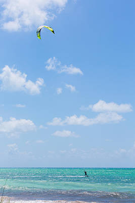 Keys Photograph - Windsailing In The Keys by John M Bailey