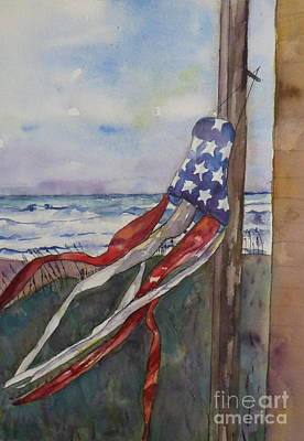 Topsail Island Painting - Windsock by Anne McMath