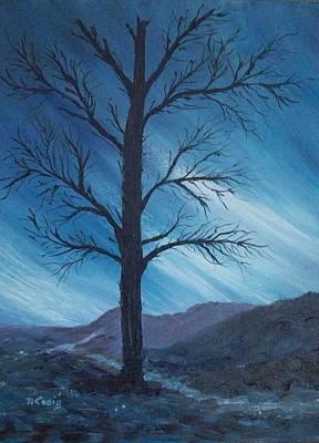 Nightsky Painting - Windsong by Nancy Craig
