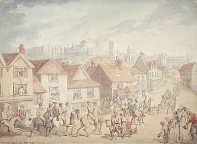 Pack Drawing - Windsor Castle From Eton Town, 1800 by Thomas Rowlandson