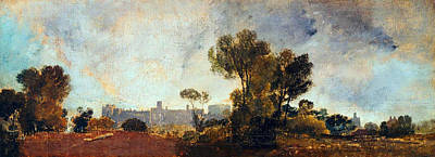 Beautiful Scenery Painting - Windsor Castle From Salt Hill  by Celestial Images