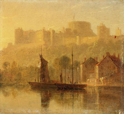Windsor Castle From The Thames, William Daniell Art Print by Litz Collection