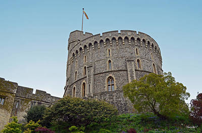 Photograph - Windsor Castle Round Tower And Moat Gardens by Shanna Hyatt