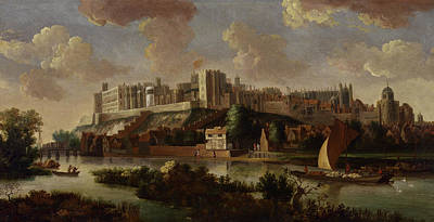 Architectural Artist Painting - Windsor Castle Seen From The Thames, Unknown Artist by Litz Collection