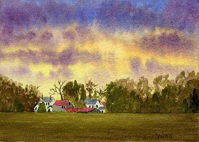 Painting - Windsor Sunset by Brett Winn