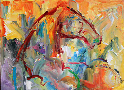 Painting - Windstorm  Horse  28 2014 by Laurie Pace