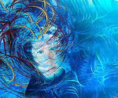 Trippy Photograph - Windstorm Woman by Camille Lopez