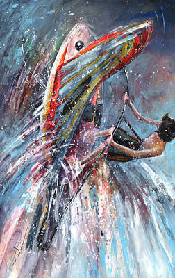 Wind Surfing Painting - Windsurf 03 by Miki De Goodaboom