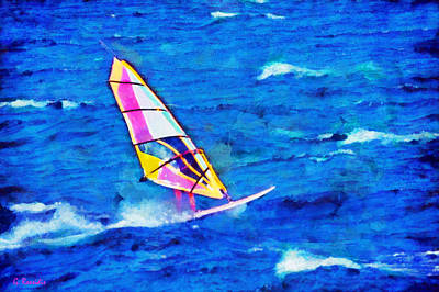 Wind Surfing Painting - Windsurf by George Rossidis