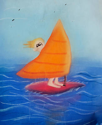 Pastel - Windsurfer Dude by Joshua Maddison