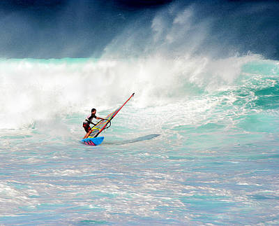 Photograph - Windsurfer In Heavy Waves by John Orsbun