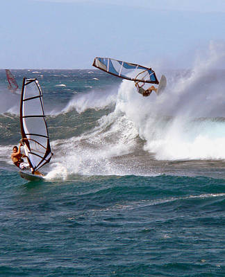 Photograph - Windsurfer In The Air by John Orsbun