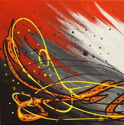 Painting - Windsurfer Left by Darren Robinson