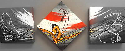 Painting - Windsurfer Spotlighted by Darren Robinson