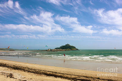 Photograph - Windsurfing Around St Michael's Mount by Terri Waters