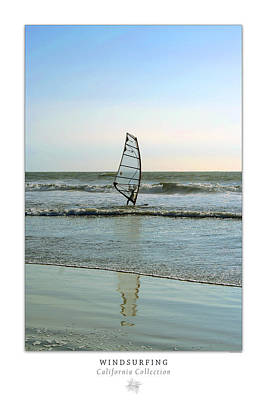Photograph - Windsurfing Art Poster - California Collection by Ben and Raisa Gertsberg