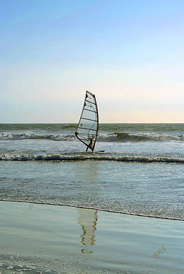 Photograph - Windsurfing by Ben and Raisa Gertsberg