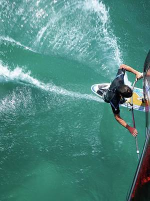 Wind Surfing Photograph - Windsurfing by Chris Knapton