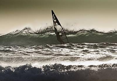 Windsurfing Los Lances Beach, Tarifa Art Print