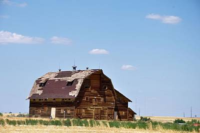 Photograph - Windswept Colorado Barn by Robert Habermehl
