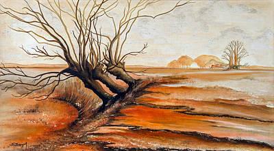 Bleak House Painting - Windswept by Dawn Broom