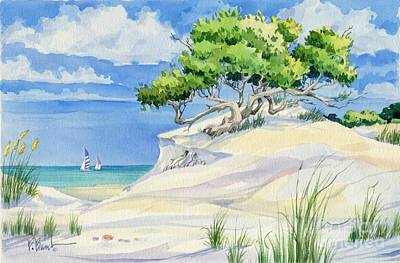 Sailboat Painting - Windswept Dunes by Paul Brent