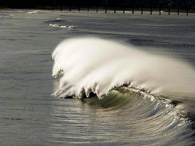 Photograph - Windswept Giant Wave by Jeff Lowe