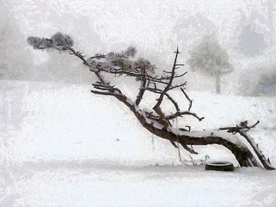 Crooked Digital Art - Windswept by Gun Legler