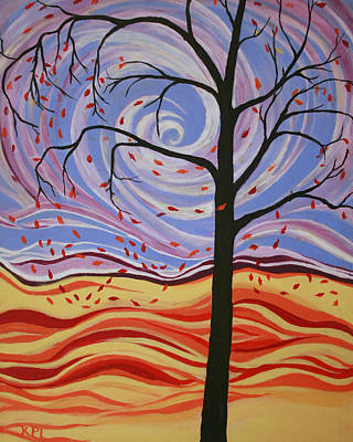 Windy Hill Painting - Windswept by Kathy Peltomaa Lewis