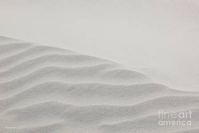 Abstract Beach Landscape Photograph - Windswept Sand Dune by Michelle Wiarda