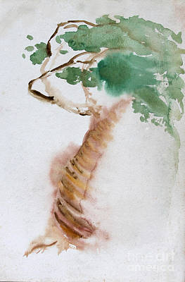 Painting - Windswept Tree by Anne Cameron Cutri