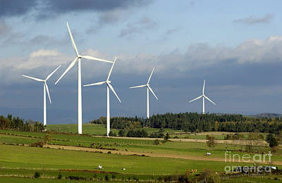 Eolienne Photograph - Windturbines by Bernard Jaubert